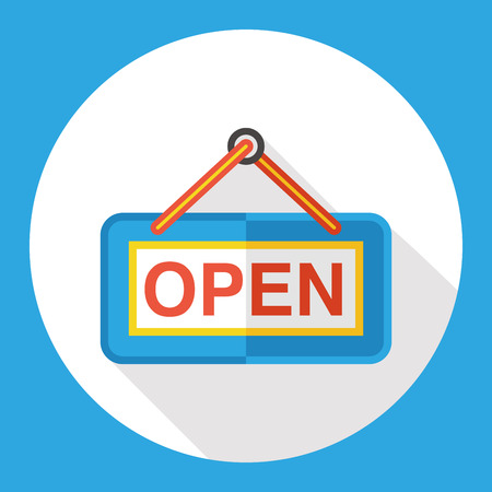 operation for: shop open flat icon