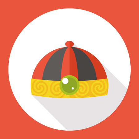 chinese hat: Chinese hat flat icon