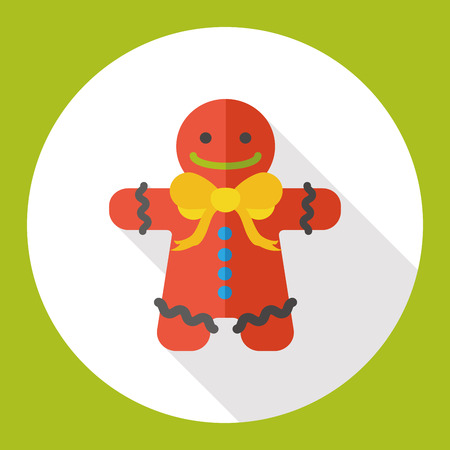 gingerbread man: gingerbread man flat icon