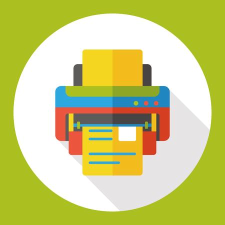 ink jet: printer flat icon