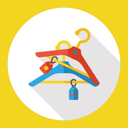 clothes hanger: shopping clothes hanger flat icon Illustration
