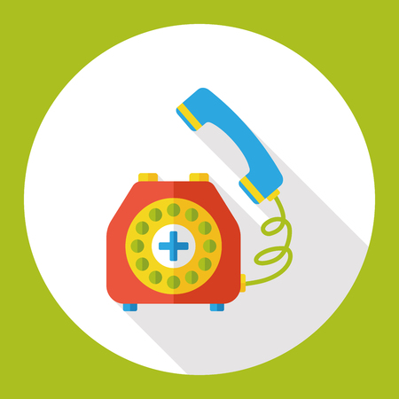 emergency call: emergency call flat icon