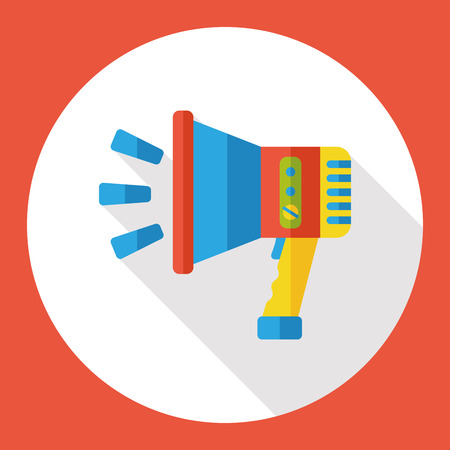 loudspeaker: loudspeaker flat icon Illustration