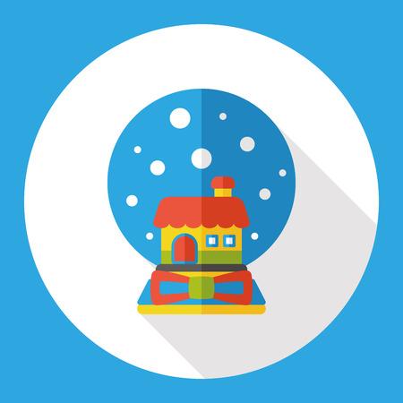 crystal gazing: crystal ball flat icon