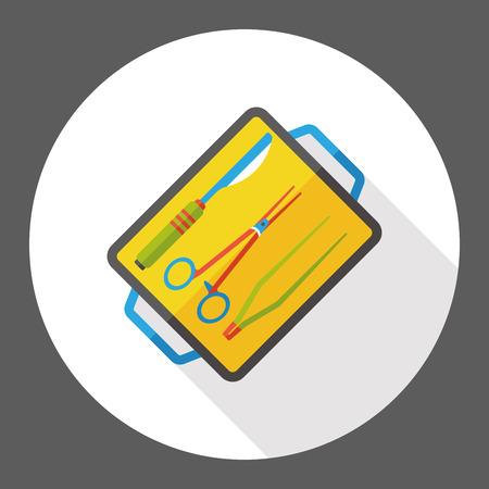 Scalpels and scissors flat icon
