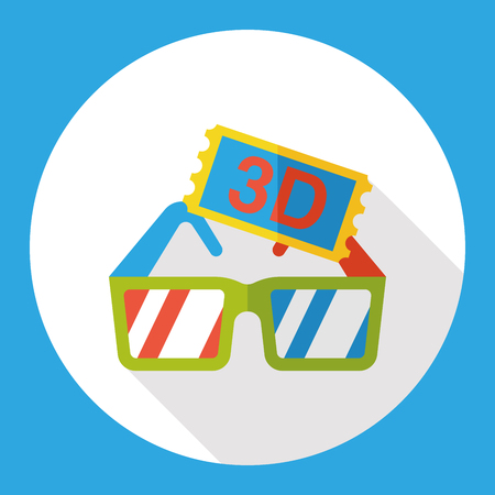icon 3d: 3D glasses flat icon