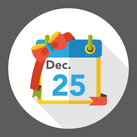 christmas icon: Christmas calendar flat icon Illustration