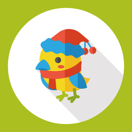 christmas icon: Christmas bird flat icon Illustration