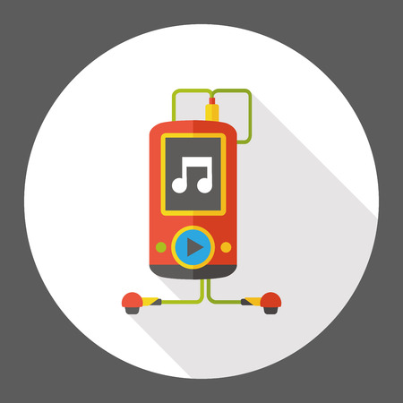 music: music player flat icon