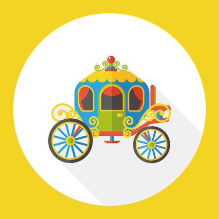 horse and cart: horse carriage flat icon