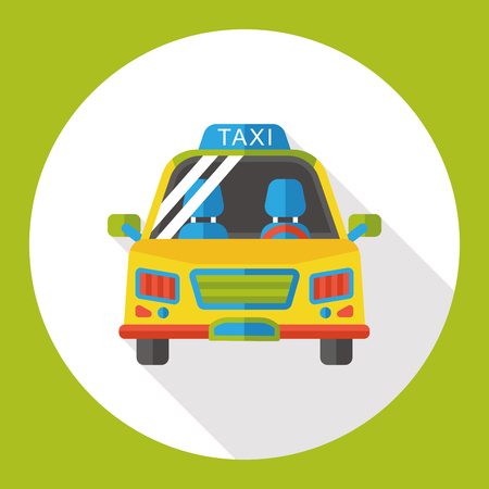 private service: transportation taxi flat icon