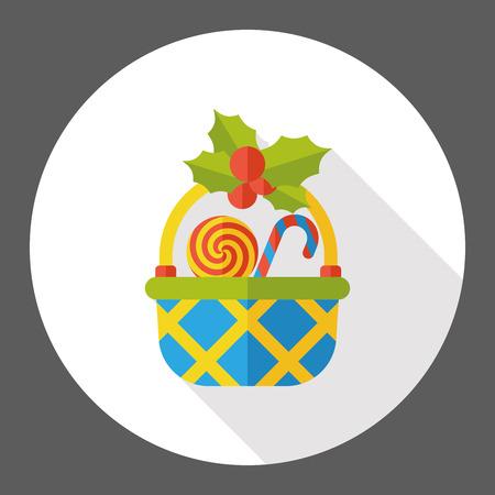 Geschenkkorb flach Symbol