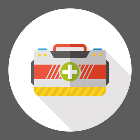 First aid kit flat icon