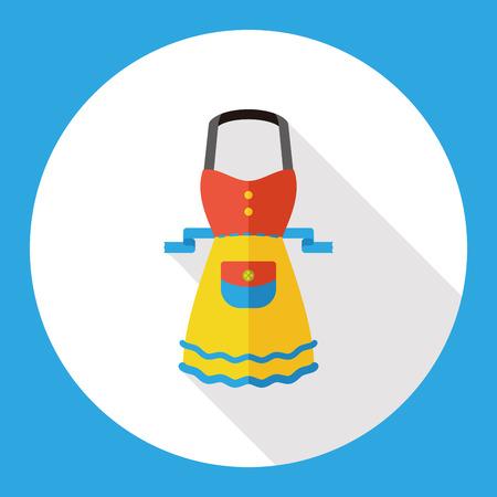 specific clothing: kitchenware apron flat icon