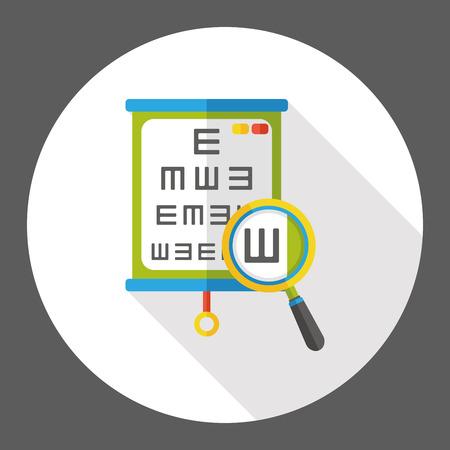 eye test: eye test chart flat icon