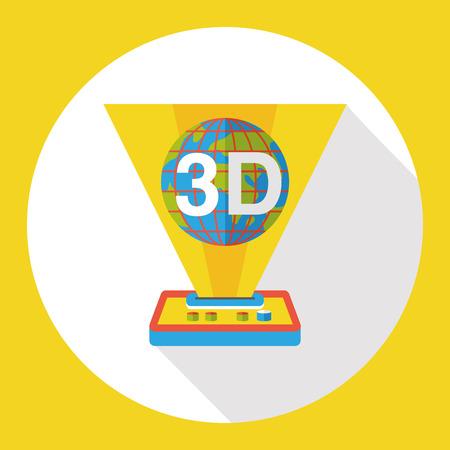 3D printing machine flat icon
