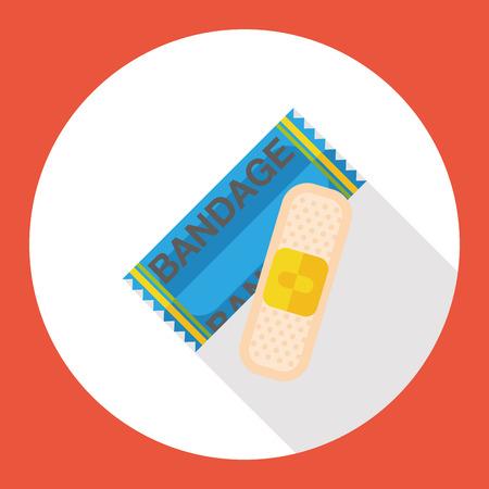 wound: wound bandage flat icon Illustration