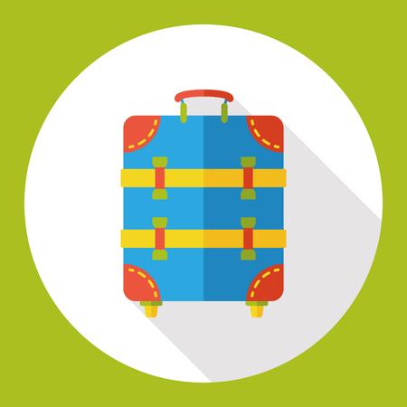 trolley: suitcase trolley flat icon