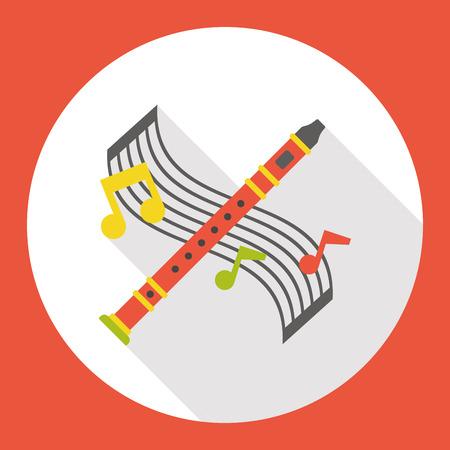flute instrument: instrument flute flat icon