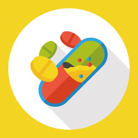 painkiller: Pills medicine flat icon