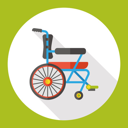 wheel chair: Wheel chair flat icon Illustration