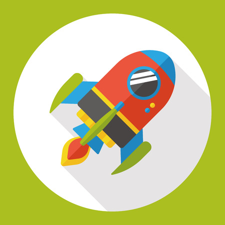 airship: space airship flat icon Illustration