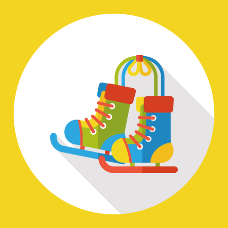 rollerblade: Roller skates flat icon