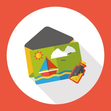 postcard: postcard flat icon Illustration