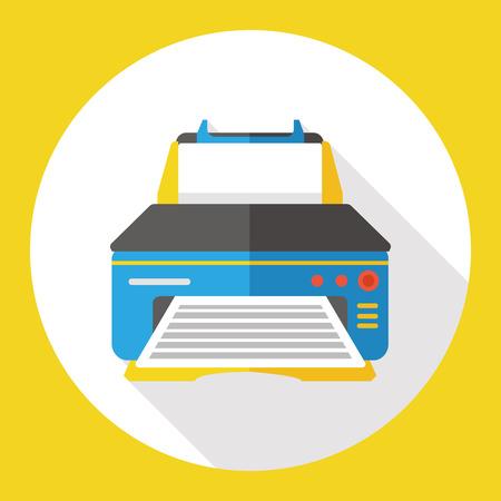 computer printer flat icon