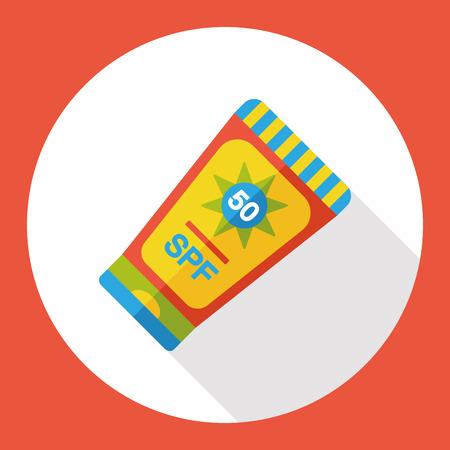 sunscreen flat icon Stock Illustratie