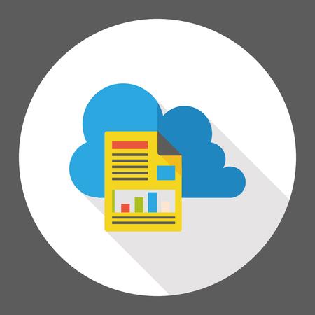 icloud: i-cloud internet flat icon