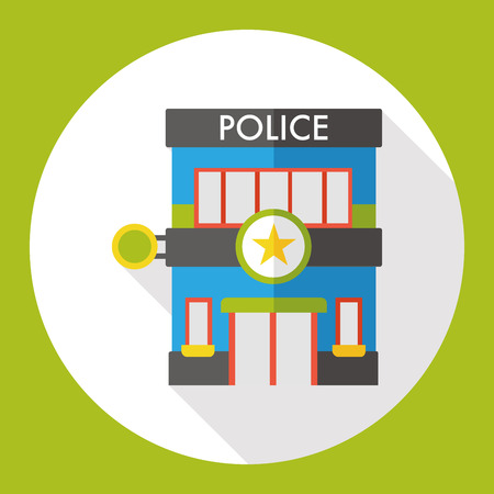 precinct station: police station flat icon