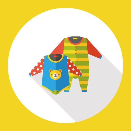 Baby-Kleidung flach Symbol