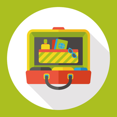 luggage airport: luggage case flat icon