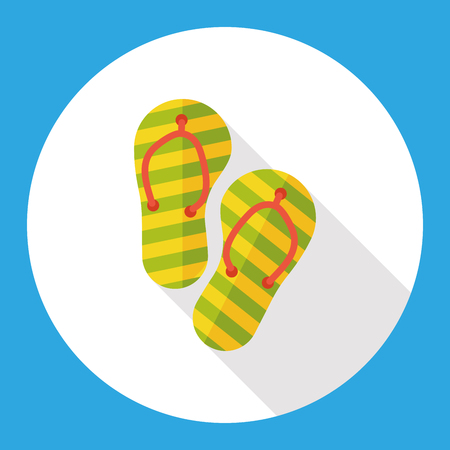 flip flop: Slippers flip flop flat icon Illustration