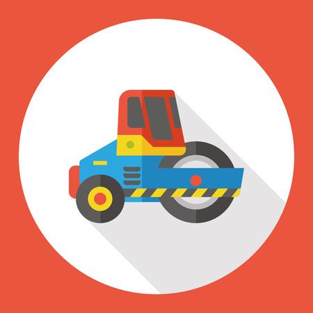 automotive industry: truck transportation flat icon Illustration