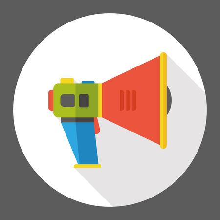 loudspeaker: loudspeaker horn flat icon Illustration