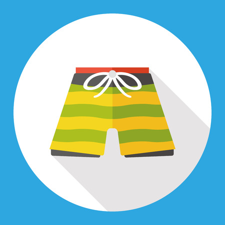 swim wear: swim suit flat icon Illustration