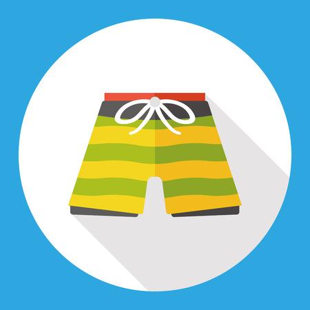 swim suit: swim suit flat icon Illustration