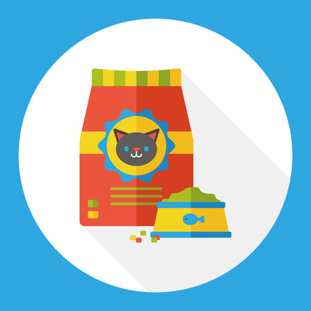 cat food flat icon Vectores