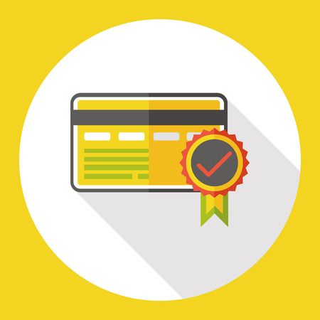 quran: certification card flat icon