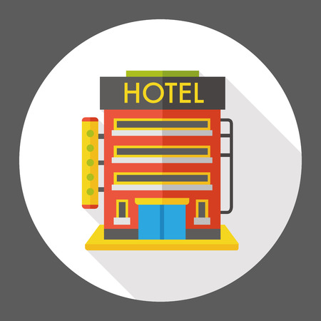 hotel building: hotel building flat icon