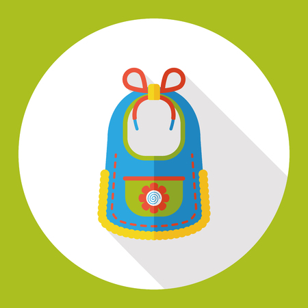 babero: Babero de beb� icono plana Vectores