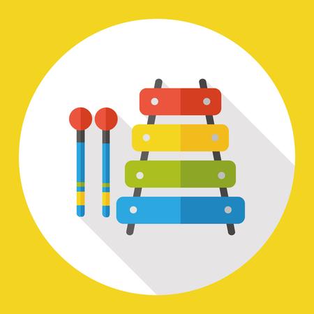 juguete: juguete del beb� del instrumento musical del piano icono plana