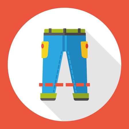 tracksuit: clothes pants flat icon