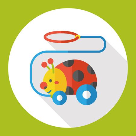 ladybug: ladybug toy flat icon