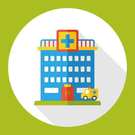 hospitalization: hospital flat icon