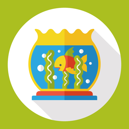 fishbowl: fish bowl flat icon