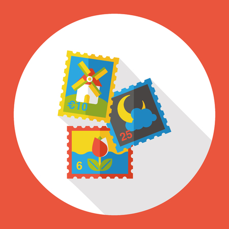recoger: recoger icono plana sello