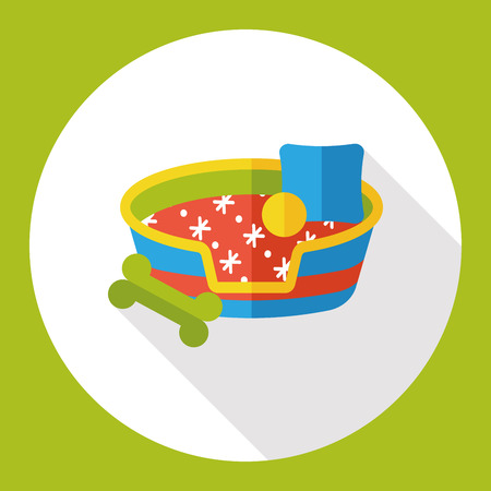 pet bed flat icon Illustration